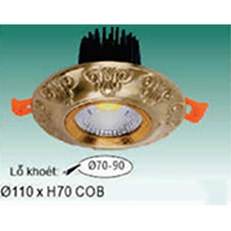 Đèn Led Âm Trần 1 chế độ sáng WQ3 L 9716 Ø110xH70