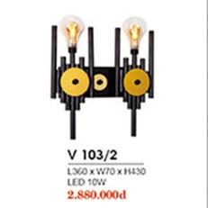 Đèn Tường Trang Trí HP6 V 103/2 L360xW70xH430