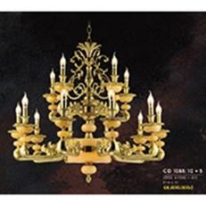 Đèn Chùm Nến Đồng HP6 CĐ 1088/10+5 Ø950xH880+450