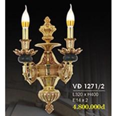 Đèn Tường Nến Đồng HP6 VĐ 1271/2 L320xH400
