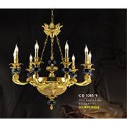 Đèn Chùm Nến Đồng HP6 CĐ 1085/9 Ø860xH830+450
