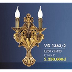 Đèn Tường Nến Đồng HP6 VĐ 1363/2 L250xH430