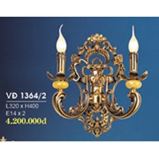 Đèn Tường Nến Đồng HP6 VĐ 1364/2 L320xH400