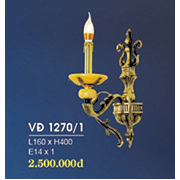 Đèn Tường Nến Đồng HP6 VĐ 1270/1 L160xH400