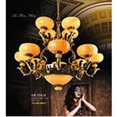 Đèn Chùm Nến Đồng HP6 CĐ 1274/12 Ø1000xH900+450
