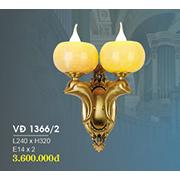 Đèn Tường Nến Đồng HP6 VĐ 1366/2 L240xH320
