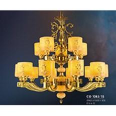 Đèn Chùm Nến Đồng HP6 CĐ 1083/15 Ø960xH900+450