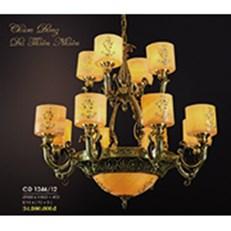 Đèn Chùm Nến Đồng HP6 CĐ 1246/12 Ø900xH860+450