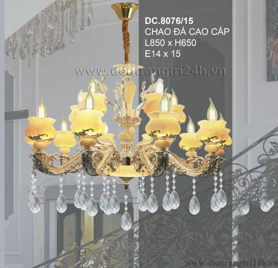 Đèn Chùm Pha Lê Nến CTK8 DC.8076/15 L850xH650