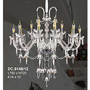 Đèn Chùm Pha Lê Nến CTK8 DC.9146/12 L750xH720