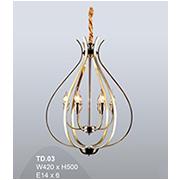 Đèn Thả Đồng Cổ Điển CTK8 TD.03A W420xH500