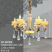 Đèn Chùm Pha Lê Nến CTK8 DC.8076/6 L700xH500