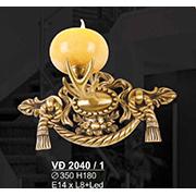 Đèn Tường Nến Đồng SN5 VĐ 2040/1 Ø350xH180