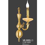 Đèn Tường Nến Đồng SN5 VĐ 2053/1 Ø90xH400