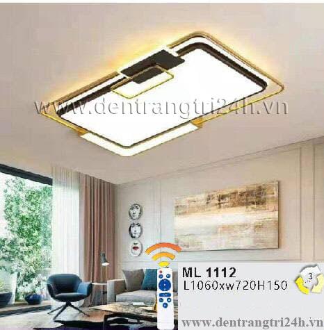 Đèn áp trần LED WQ5 ML 1112 L1060xW720xH150