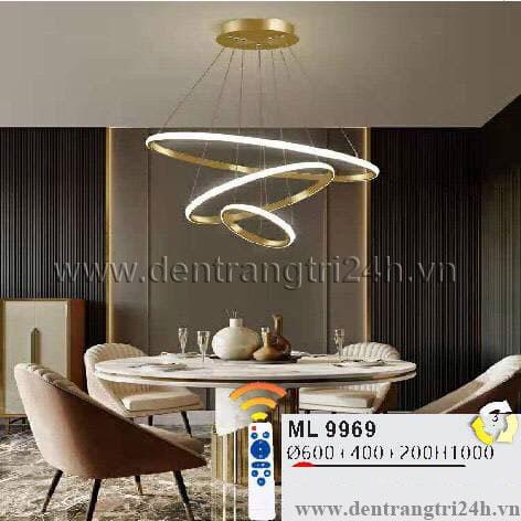 Đèn Thả Nghệ Thuật WQ5 ML 9969 Ø600-400-200xH1000