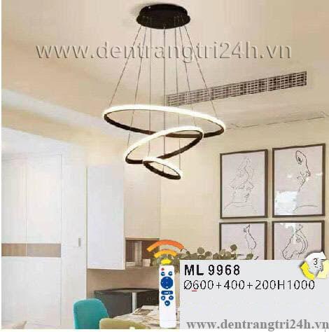 Đèn Thả Nghệ Thuật WQ5 ML 9968 Ø600-400-200xH1000