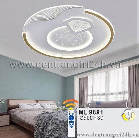 Đèn áp trần LED WQ5 ML 9891 Ø500xH80