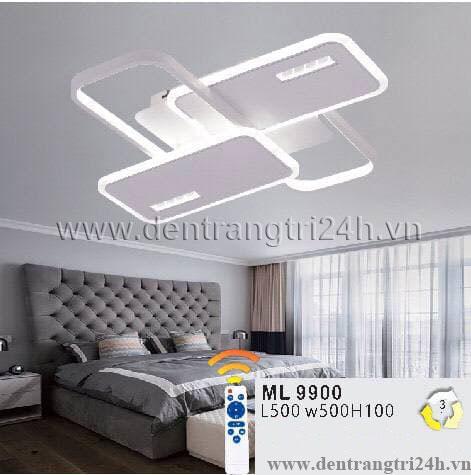 Đèn áp trần LED WQ5 ML 9900 L500xW500xH100