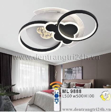 Đèn áp trần LED WQ5 ML 9888 L500xW500xH100