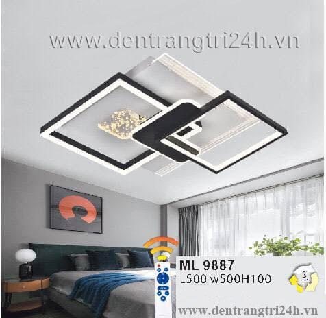 Đèn áp trần LED WQ5 ML 9887 L500xW500xH100