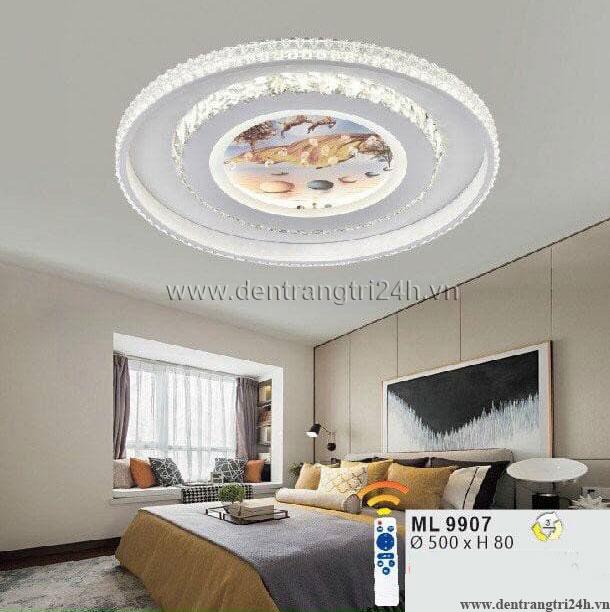 Đèn áp trần LED WQ5 ML 9907 Ø500xH80