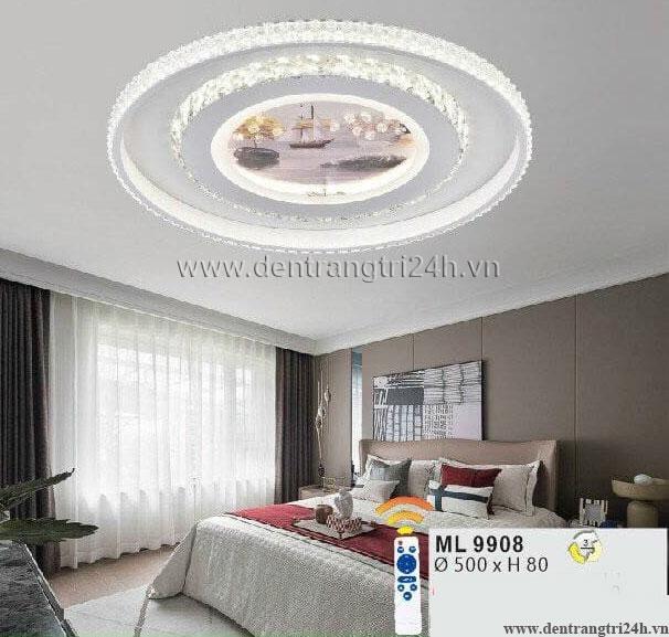 Đèn áp trần LED WQ5 ML 9908 Ø500xH80