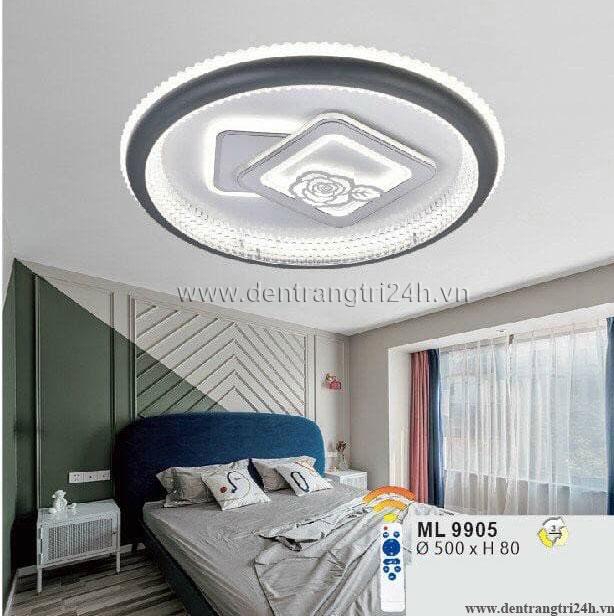 Đèn áp trần LED WQ5 ML 9905 Ø500xH80