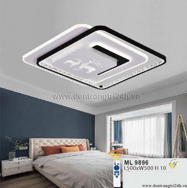 Đèn áp trần LED WQ5 ML 9896 L500xW500xH10