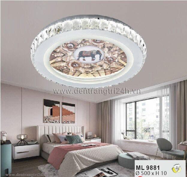Đèn áp trần LED WQ5 ML 9881 Ø500xH10
