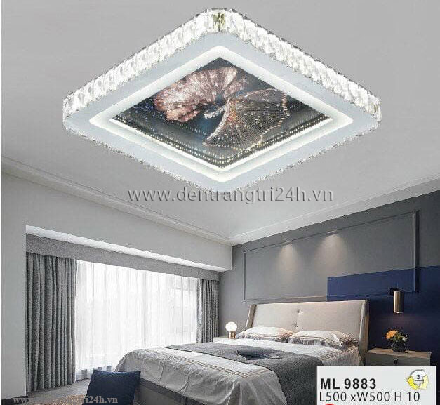 Đèn áp trần LED WQ5 ML 9883 L500xW500xH10