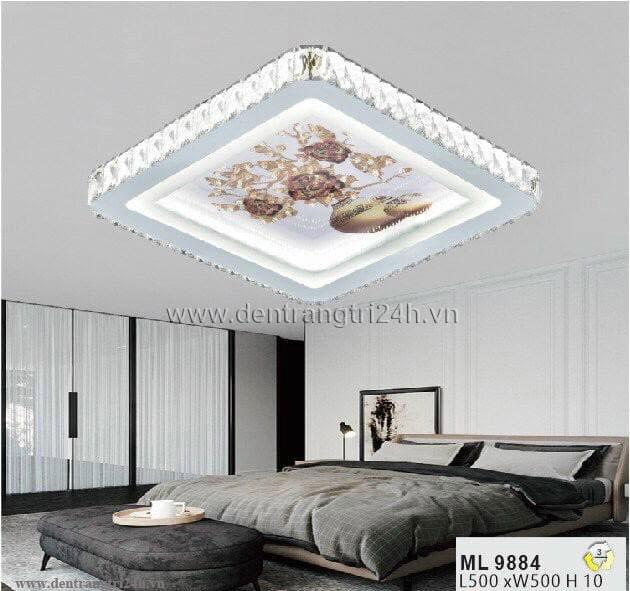 Đèn áp trần LED WQ5 ML 9884 L500xW500xH10