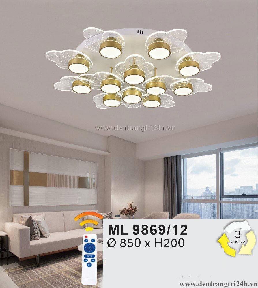 Đèn áp trần LED WQ5 ML 9869/12 Ø850xH200