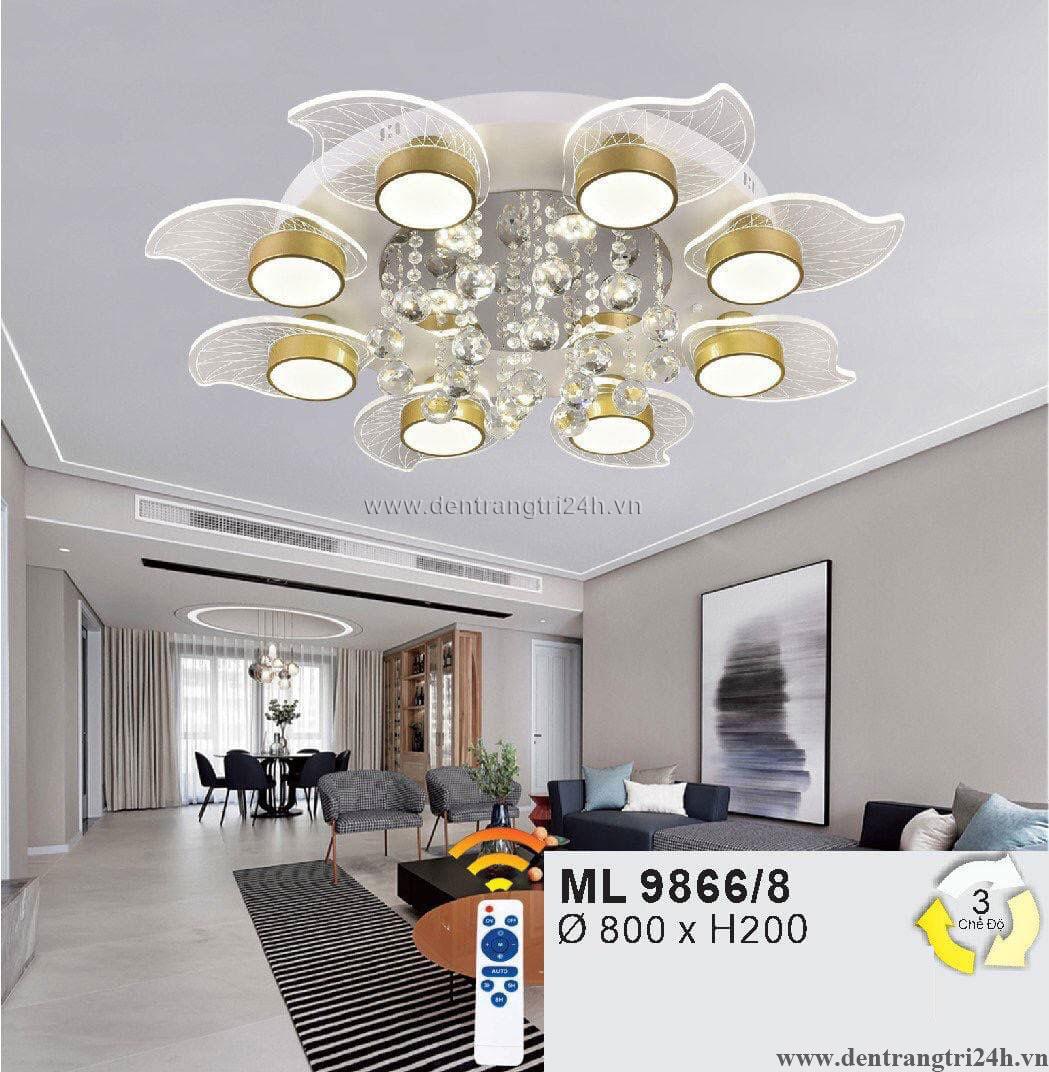 Đèn áp trần LED WQ5 ML 9866/8 Ø800xH200