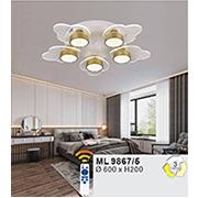 Đèn áp trần LED WQ5 ML 9867/5 Ø600xH200