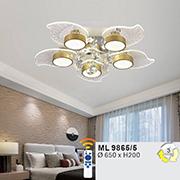 Đèn áp trần LED WQ5 ML 9865/5 Ø650xH200