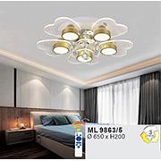 Đèn áp trần LED WQ5 ML 9863/5 Ø650xH200